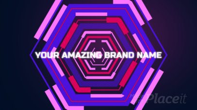 Futuristic Logo Reveal Intro Maker for Gaming Channels 968