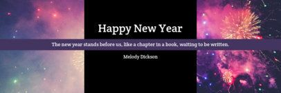 Facebook Cover Maker Featuring a New Year Quote 1093f-1860