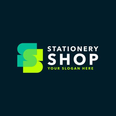 Logo Template for a Stationery Store 1380f-2584