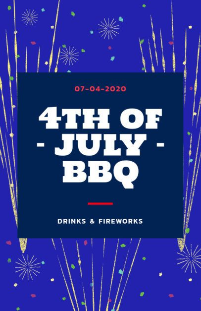 Online Flyer Maker for a 4th of July BBQ Party 238o-1870