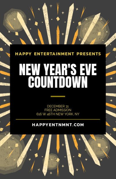 Holiday Flyer Template for a New Year's Eve Event 238p-1870