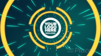 Logo Reveal Intro Maker for Gaming Channels with Futuristic Animated Circles 2008