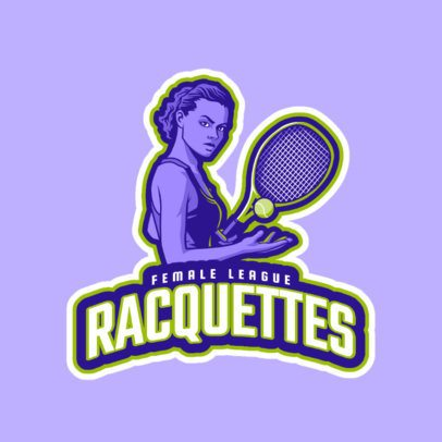Tennis Logo Maker for a Women's Team 1600f-2601