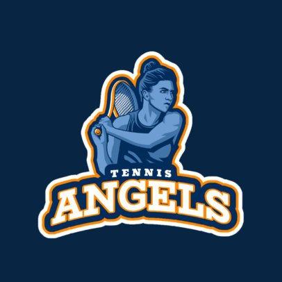 Tennis Logo Maker Featuring a Female Player 1600g-2601