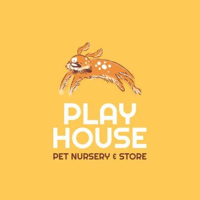 Pet Nursery Logo Maker with a Happy Dog Illustration 2582c