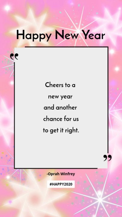 Quote Instagram Story Maker for a New Year's Celebration 580m 1864c