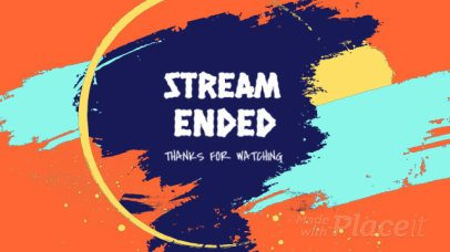 Twitch End Screen Video Maker with Brush Animations 1809