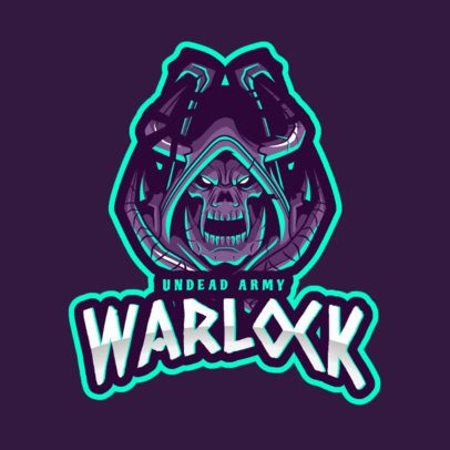 World of Warcraft-Themed Logo Generator Featuring a Warlock Clipart 2613g