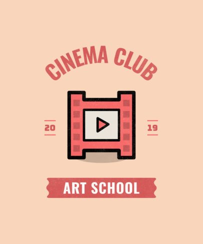 T-shirt design template for a Cinema Club 484l 24-el
