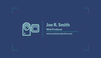 Simple Business Card Template for a Web Video Producer 217e 24-el