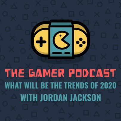 Gaming Podcast Cover Template 1494f 24-el