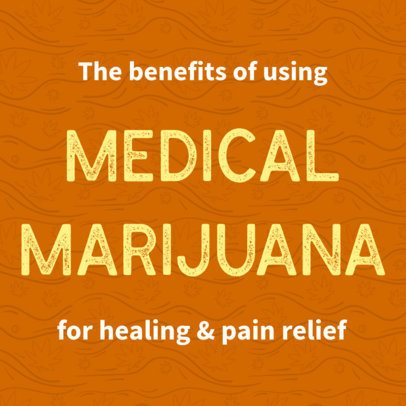 Medicinal Marijuana-Themed Twitter Post Template 16613l - 1898