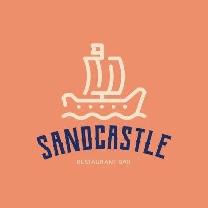 Beach-Allusive Logo Maker for a Restaurant Bar 1760h 56-el