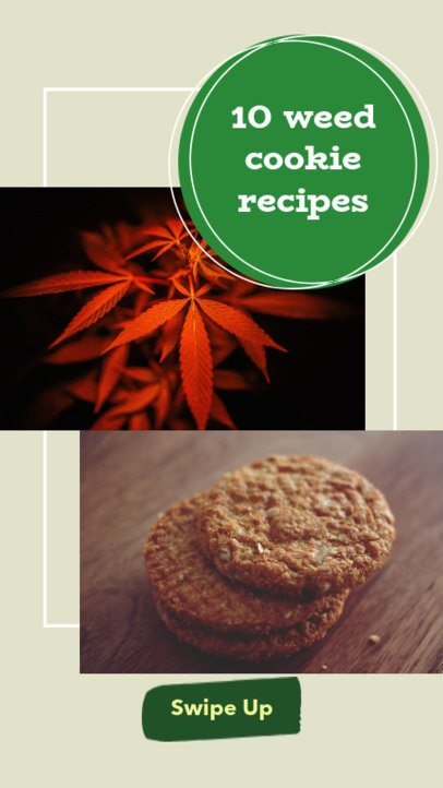 Instagram Story Creator for Cannabis Recipes 858g-1889