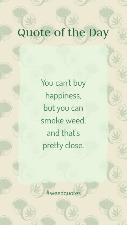 Cannabis-Themed Instagram Story Generator Featuring a Quote 1888c