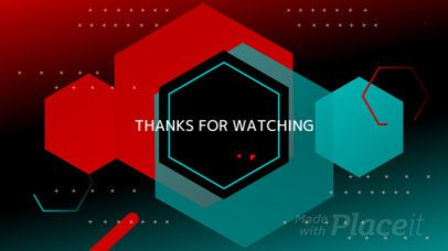 Twitch End Screen Video Maker with Animated Hexagons for an Ended Stream 1812