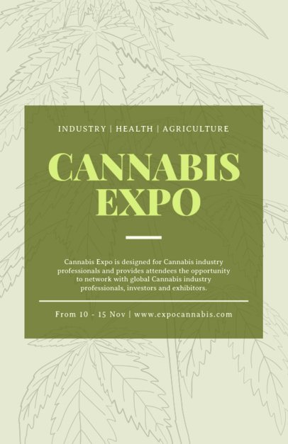 Flyer Generator for a Cannabis Expo 1892a