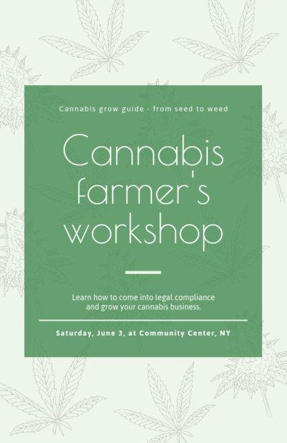 Online Flyer Maker for a Cannabis Workshop 1892c