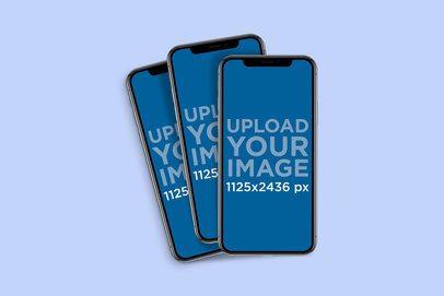Mockup of Three iPhones 11 Lying Together 792-el
