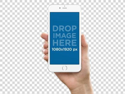 Mockup of a Hand Holding iPhone 6 Plus a10768