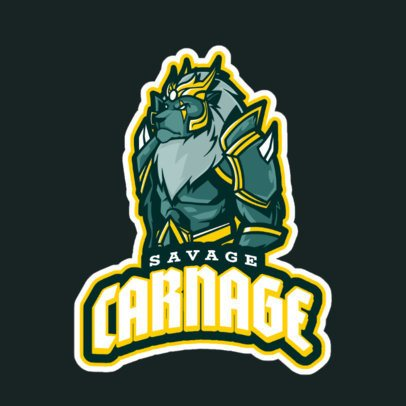 Illustrated Logo Maker Inspired by a League of Legends' Champion 2619r