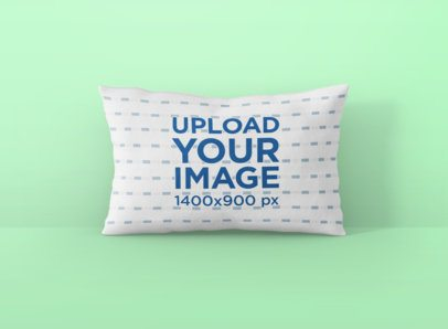 Pillow Mockup Featuring a Customizable Background 699-el