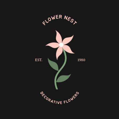 Online Logo Template for a Florist Shop 1269g 86-el