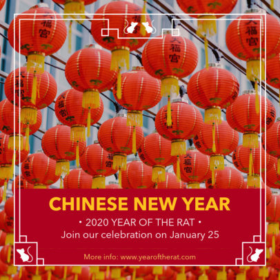 Instagram Post Maker Featuring a Chinese New Year Celebration Style 1925c
