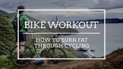 Minimal YouTube Thumbnail Generator for a Cycling Channel 932g 1937
