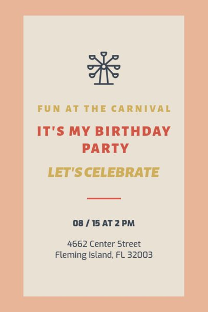 Birthday Party Invitation Design Template 1684i 69-el