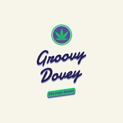 70's Logo Maker with a Marijuana Graphic 2627i