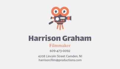 Filmmaker Business Card Design Template with a Movie Camera Illustration 207h 33-el