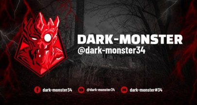 Twitch Banner Design Template for Horror Gaming 1964