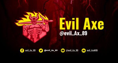 Horror-Themed Twitch Banner Generator Featuring an Evil Character 1964k
