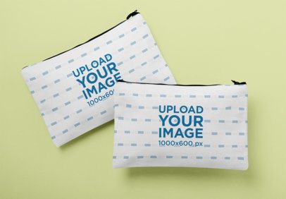 Mockup of Two Cosmetic Pouches 29982