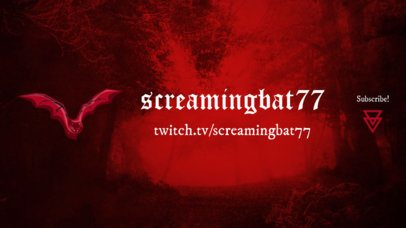 Horror-Style Twitch Banner Maker Featuring a Foggy Background 1965c