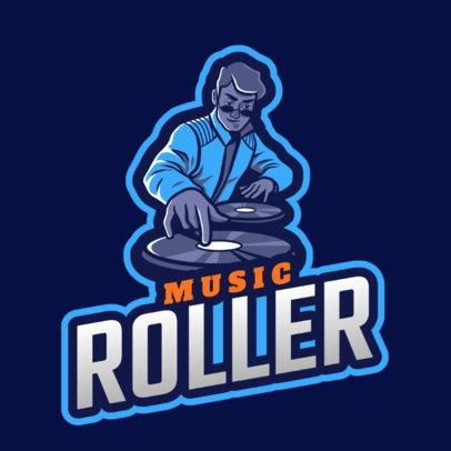 Logo Generator Featuring a DJ Spinnig a Record 2656e