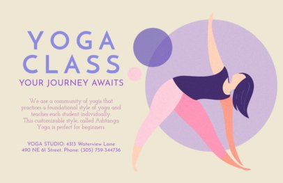 Flyer Maker Featuring Yoga Illustrations 1978
