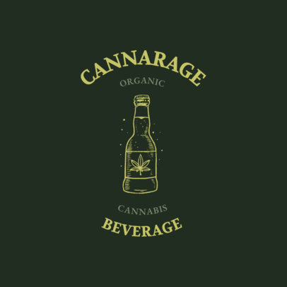 Logo Generator for Organic CBD Beverages 2647d