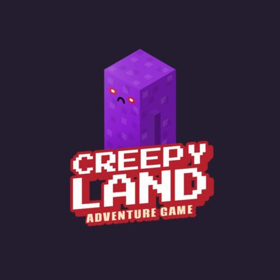 Minecraft-Styled Gaming Logo Maker with a Creeper-Inspired Character 2667d
