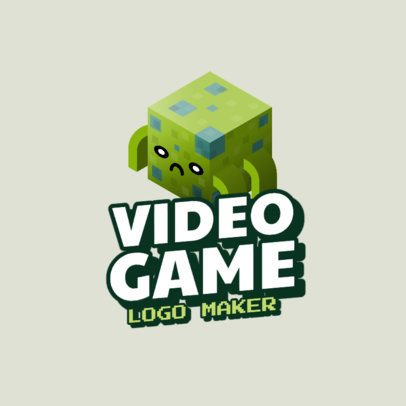 Minecraft-Inspired Gaming Logo Maker Featuring an 8bit Style 2667b