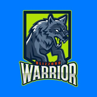 Gaming Logo Maker Featuring a Wolf with White Eyes 2680m
