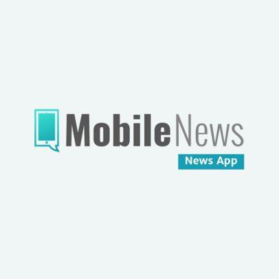 Online Logo Maker for a News Mobile App 2685l