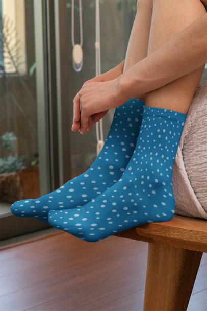 Mockup of Woman Wearing Sublimated Socks 29532