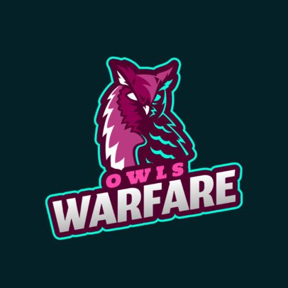 Sports Team Logo Generator Featuring an Owl Clipart 2693j