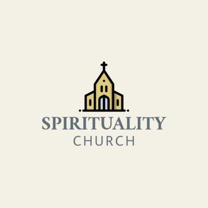 Traditional Logo Maker for a Church 1769g 140-el