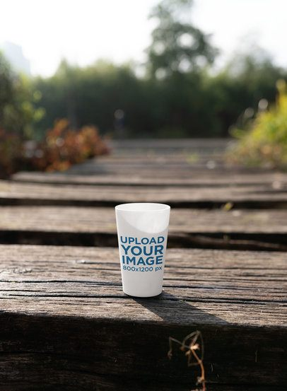 Mockup of a Reusable Cup in a Natural Setting 30560