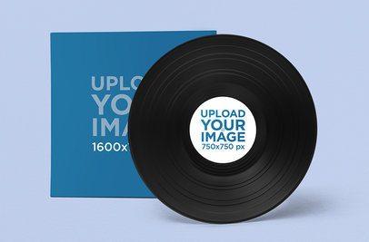 Mockup of a Vinyl Record in a Minimalistic Setting 1038-el