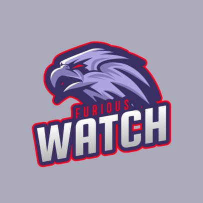 Cool Online Logo Template for a Sports Team with a Hawk Mascot 2693l