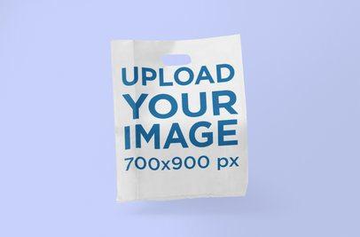 Plastic Bag Mockup Featuring a Plain Backdrop 1095-el